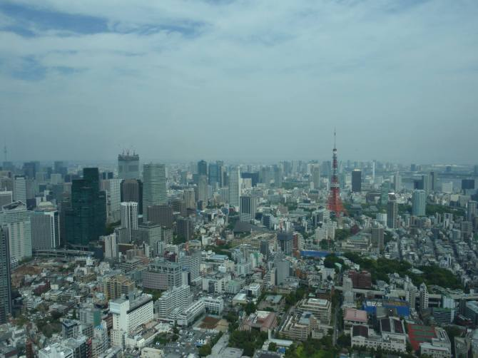 View of Tokyo from atop Mori Tower
